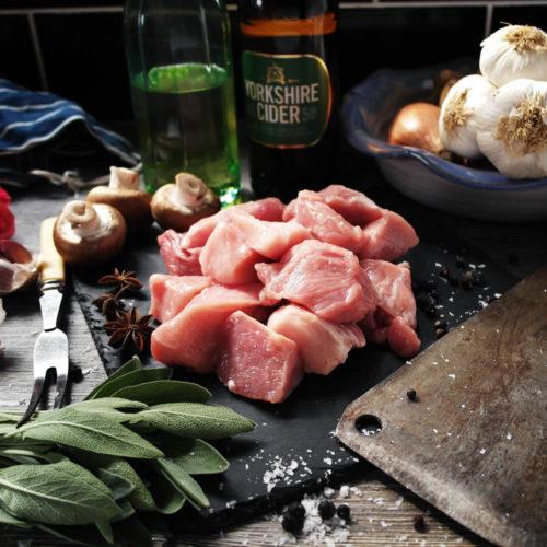 Rare Breed Pork Diced (500g)